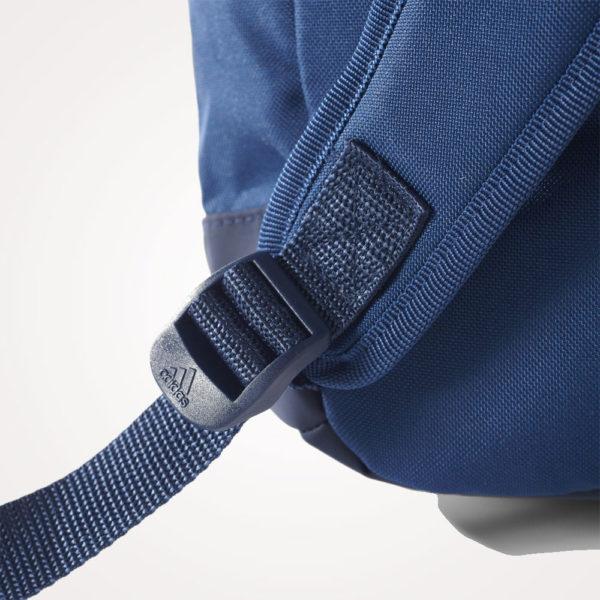 Ruksak školski Adidas Versatile Backpack detalj - plavo bijeli