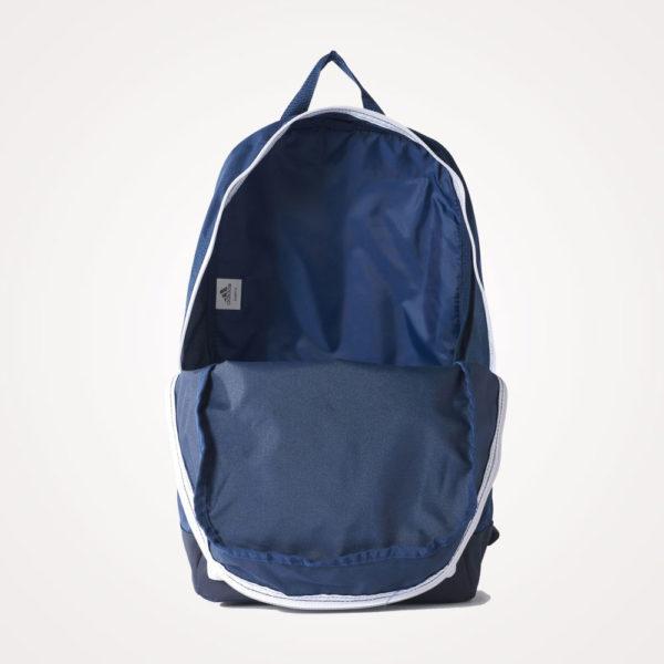 Ruksak školski Adidas Versatile Backpack otvoreni - plavo bijeli