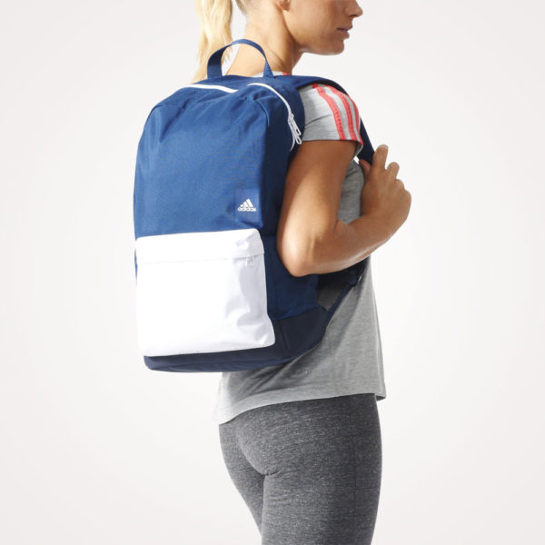 Ruksak školski Adidas Versatile Backpack - plavo bijeli