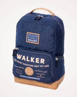 Ruksak školski za prijenosno računalo Pure Walker Authentic Schneiders - plavi