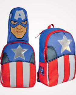 Ruksak školski s kapuljačom Captain America Cerda