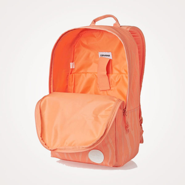 Ruksak školski Converse EDC Poly Backpack otvoreni - narančasti