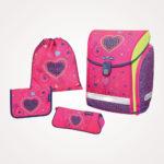 Torba školska set 4/1 Midi Pink Hearts Herlitz