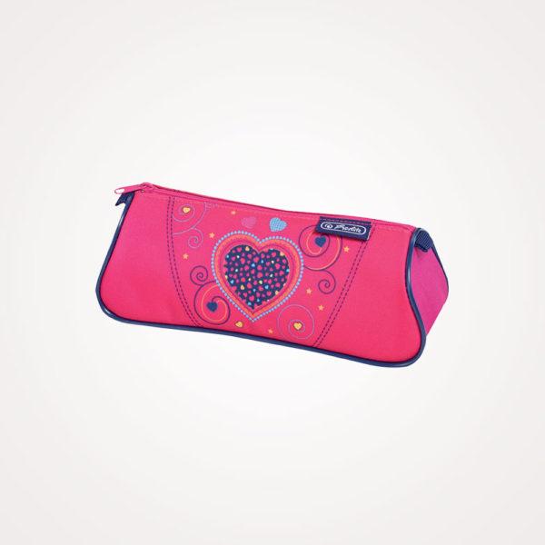 Torba školska set 4/1 Midi Pink Hearts Herlitz - pernica prazna