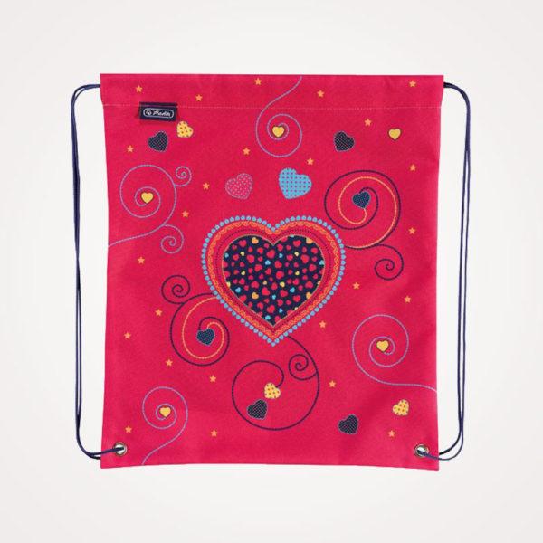 Torba školska set 4/1 Midi Pink Hearts Herlitz - vrećica