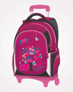 Ruksak školski s kotačićima Cute Love Connect