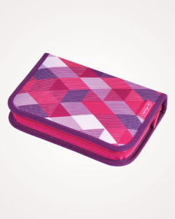Pernica puna 1zip 2preklopa Pink Cubes Herlitz