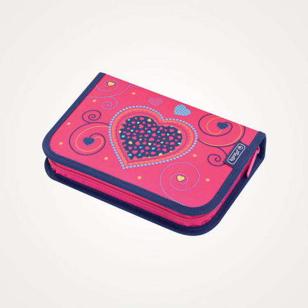 Pernica puna 1zip 2preklopa Pink Hearts Herlitz