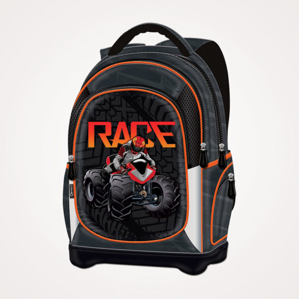Ruksak školski anatomski lagan ATV Race Connect