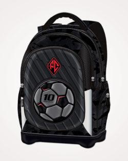 Ruksak školski anatomski lagan Football Team Connect - crno sivo crveni