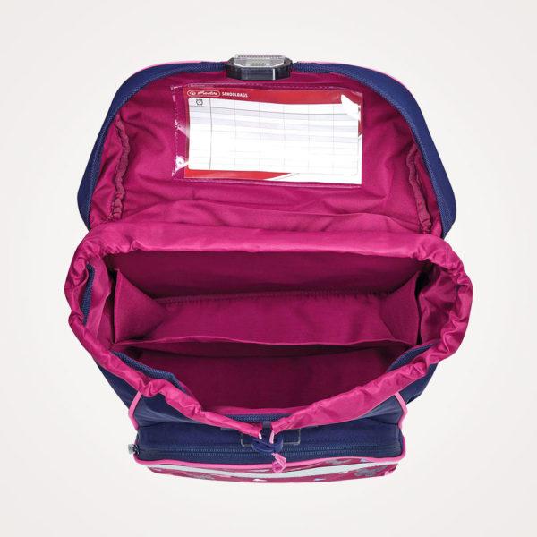 Torba školska set 4/1 Ultralight Plus Butterfly Herlitz - torba otvorena