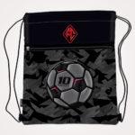 Vrećica za tjelesni Football Team Connect - crno sivo crvena